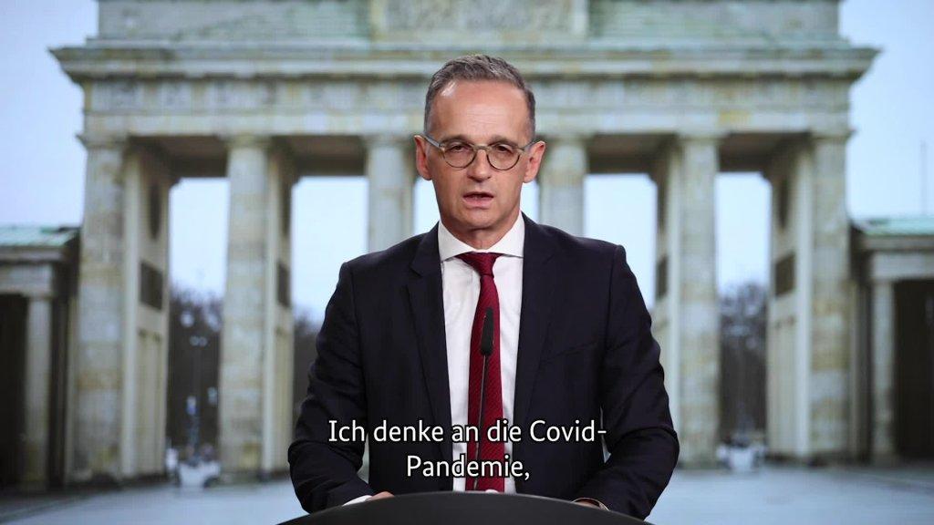 Video-Grußbotschaft des Bundesministers des Auswärtigen, Heiko Maas, anlässlich des Tags der Deutschen Einheit am 3. Oktober