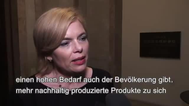 BMin Julia Kloeckner zieht ein positives Fazit ihrer Vereinbarungen mit China