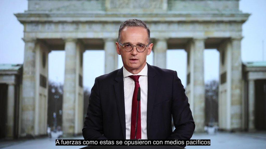 Videomensaje del Ministro Federal de Relaciones Exteriores, Heiko Maas, con ocasión del Día de la Unidad Alemana el 3 de octu