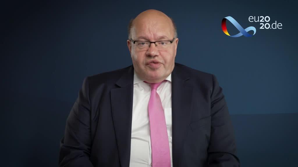 Doorstep von Bundeswirtschaftsminister Peter Altmaier von der Videokonferenz der EU-Energieministerinnen und -minister