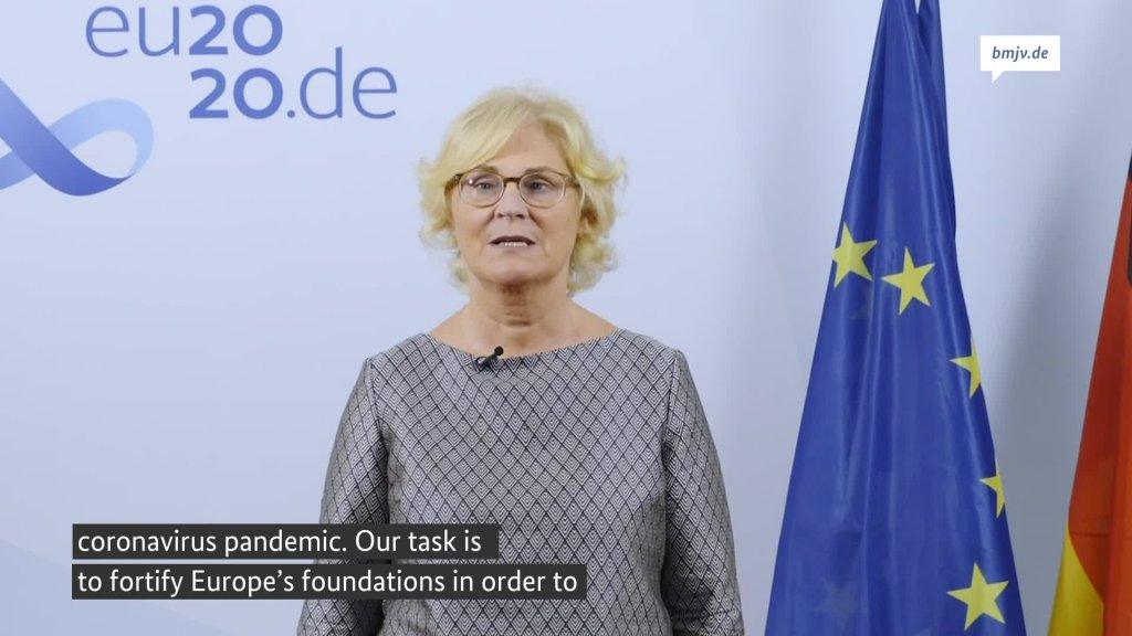 Déclaration de la ministre fédérale de la Justice Christine Lambrecht