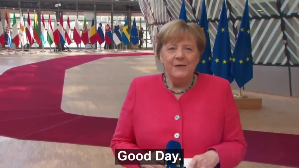 German Chancellor Angela Merkel's statement before the fourth day of talks in the European Council