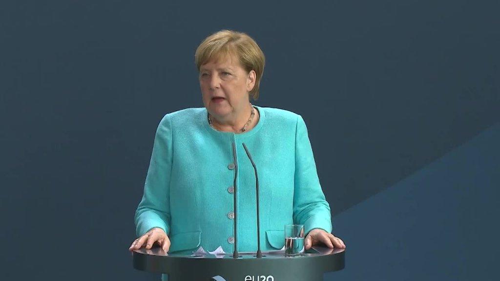 Bundeskanzlerin Merkel nach dem Europäischen Rat zu Belarus