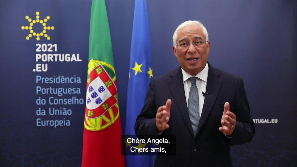 Message vidéo de la chancelière fédérale et du Premier ministre portugais